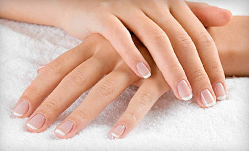 Shellac Nails French Polish Manicure